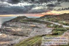 Buy Gower photos by Dan Davidson from Beautiful Gower Photography Swansea Bay, Gower Peninsula, Bristol Channel, Pink Sunset, Buy Photos, South Wales, Great View, Landscape Photography, Dan