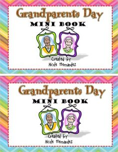 Celebrate with your kiddos as they honor seniors in the community. Grandparents Day is a special day so why not discuss its significance using this wonderful mini book. Included in this resource are coupons of fun plus there is a writing activity and a poem for all grandparents. 2013 Nicole HernandezA Teacher's Idea