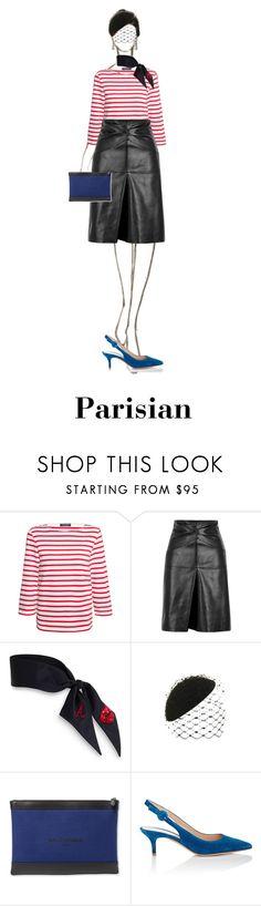 """Parisian 🗼"" by chloeramon ❤ liked on Polyvore featuring Saint James, Isabel Marant, Philip Treacy, Balenciaga and Gianvito Rossi"