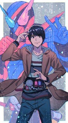 Let's begin the experiment! Kamen Rider Kabuto, Kamen Rider Decade, Kamen Rider Ex Aid, Kamen Rider Series, Character Poses, Character Design, Dragon Rider, Anime Version, Samurai Warrior