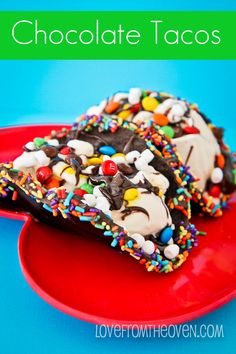 These are like copycat Choco Tacos, but they're so much better. They've got so much chocolate and sprinkles that they're sure to bring out the kid in you!