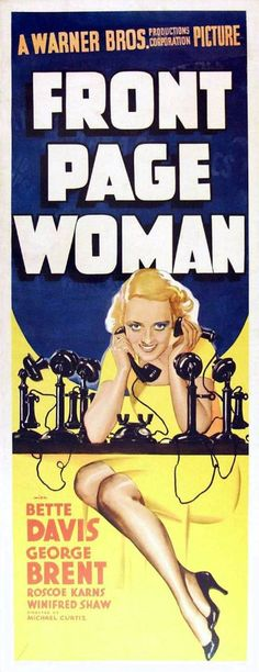 Bette Davis in Front Page Woman (1935)
