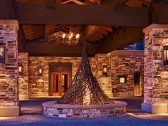 St. Regis Rocks. The fire pit ...