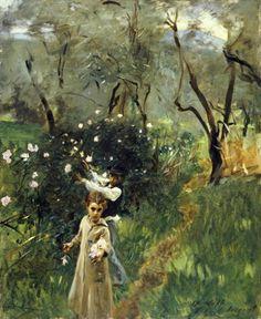 Gathering Flowers at Twilight, John Singer Sargent.  La-clef-des-cœurs