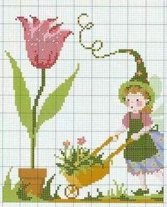 Cross Stitch Fairy, Cross Stitch Angels, Cross Stitch Books, Cross Stitch Rose, Cross Stitch Charts, Cross Stitch Designs, Cross Stitch Patterns, Embroidery Art, Cross Stitch Embroidery
