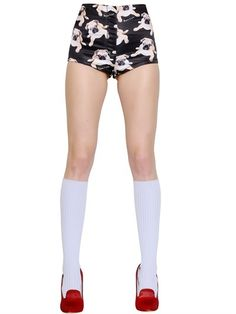 Au Jour Le Jour - Pug Printed Duchesse Shorts