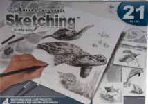 Sea Life Sketching 8 years - Adult Drawing Art Kit - Shark, Turtle, Whale, Dolphin