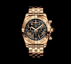Breitling Chronomat 44 (Black and Gold) Breitling Superocean Heritage, Breitling Chronomat, Breitling Watches, Fancy Watches, Expensive Watches, Best Watches For Men, Luxury Watches For Men, Cool Watches, Men's Watches