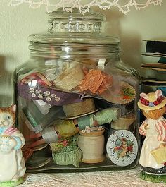 Jar with ribbon by therusticvictorian, via Flickr