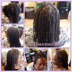 Style: Loc Retight (interlocks)  Client's Hair Type: 3c  Hair Added: NA  Products Used: Coiled! by Conscious Coils (Original Refresher Spray)   Time: 1hr 52mins  Style Duration: Retight every 5-8weeks  #consciouscoils #consciouscoilssalon