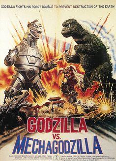 Godzilla vs. Mechagodzilla. OOOH yah! -The Godzilla movies I remember!