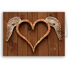 Created By OldCountryStore: Rustic Heart with Wings Wood Wedding Invitations Heart With Wings, I Love Heart, With All My Heart, Decoration St Valentin, Wood Wedding Invitations, Wedding Rsvp, Wedding Reception, Rustic Wedding, Reception Card