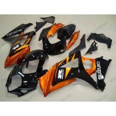 Suzuki GSX-R 1000 2007-2008 K7 Injection ABS Fairing - Others - Black/Orange   $659.00
