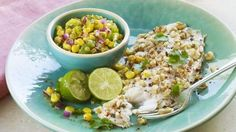 Walnut-Coated Fillets with Corn Salsa