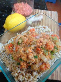 Lemony ginger lentils