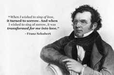 Franz Schubert was an Austrian romantic composer and although he died at the age of he was a prolific composer, having written some 600 lieder and nine symphonies. Classical Music Quotes, Classical Music Composers, Dj Quotes, Funny Quotes, Life Quotes, Wicked Musical Quotes, Romantic Composers, Musician Quotes, Inspirational Music
