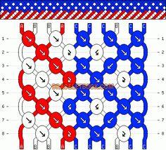 Normal Friendship Bracelet Pattern #5970 - BraceletBook.com
