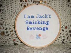 Fight Club cross-stitch!