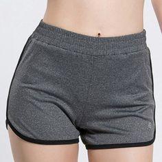 Fashionable Elastic Waist Skinny Women's Yoga Shorts