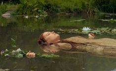 """""""Daisy Ridley in two new stills from Claire McCarthy's OPHELIA Presented by IFC Films, Ophelia will hit selected cinemas on June 28 and be available in digital platforms on July """" Beau Film, Shotting Photo, John William Waterhouse, Water Nymphs, Image Nature, Forest Fairy, Jolie Photo, Faeries, Cinematography"""