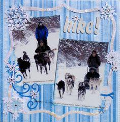 dog sledding scrapbook page ` - Google Search