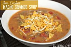 Slow Cooker Nacho Grande Soup - This slow cooker soup is the ultimate Mexican-style delight.