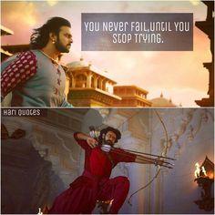 Bahubali Movie, Bahubali 2, True Quotes, Best Quotes, Motivational Quotes, Qoutes, Bahubali Quotes, Beautiful Eyes Images, Prabhas And Anushka