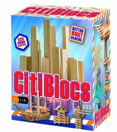 Citiblocs Natural - 300 pc and thousands more of the very best toys at Fat Brain Toys. Citiblocs are high quality wooden construction blocks which inspire both traditional building and modern design. Wooden Building Blocks, Wooden Blocks, Building Toys, Kids Blocks, Stacking Blocks, Wooden Buildings, Betta, Educational Toys, Natural Wood