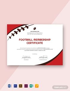 Football Certificate Template Free New 18 Free Sports Certificate Templates In Adobe Illustrator Certificate Of Achievement Template, Free Certificate Templates, Certificate Design, Sports Day Certificates, Microsoft Publisher, Microsoft Word, Free Football, Vacation Bible School, Word Doc
