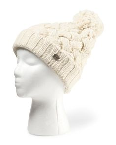 Women's Made in Italy Chunky Knit Hat With Pom