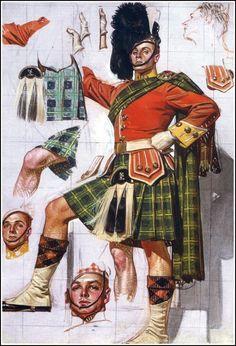 J. Leyendecker -man in a kilt American Illustration, Illustration Art, Vintage Illustrations, Isadora Duncan, Joseph, Jc Leyendecker, Men In Kilts, Norman Rockwell, Gay Art