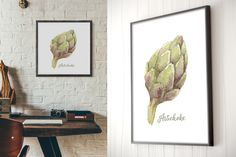 Watercolor artichoke vectorized by NastyaVesna on @creativemarket