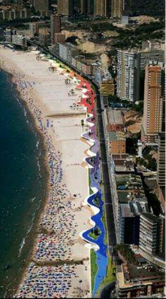 Paseo marítimo de Benidorm, España