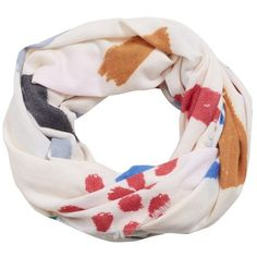 Printed Pattern Scarf (1.600 RUB) ❤ liked on Polyvore featuring accessories, scarves, print scarves and patterned scarves