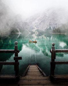 Lake Braies, South Tyrol, Italy.