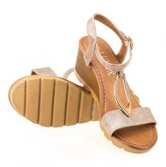 Dámské sandály na platformě MATAR - zlatá