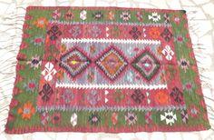 Small Ethnic Turkish Kilim carpet, Colorful Oriental Kilim Area rug, Modern Bohemian Decor FAST & FREE SHIPPING