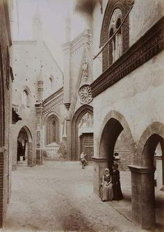 Picture from 1884. The main street.   Borgo Medievale Torino.  www.borgomedievaletorino.it @borgomedievaletorino