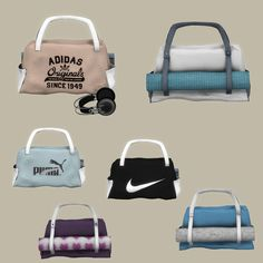 Decor Gym Bag and Headphones *Highpoly meshes* • Gym Bag - 7341 poly - 6 swatches • Headphone - 4710 poly • Headphones converted from Mila - Sims 2 Download