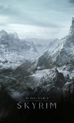480x800 Wallpaper skyrim, world, rocks, winter, cold, the elder scrolls v skyrim