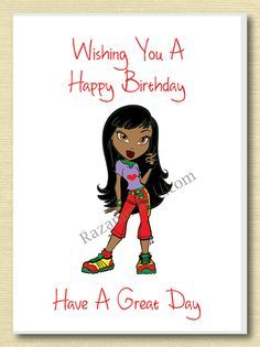 African American Girl Birthday Card B With Images Birthday