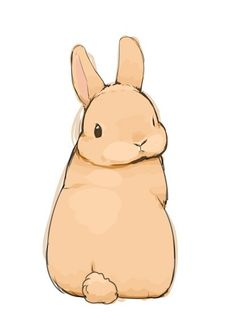 look back at it - a boogie with da hoodie Cute Animal Drawings, Animal Sketches, Kawaii Drawings, Cute Drawings, Art Sketches, Bunny Drawing, Bunny Art, Cute Bunny, Lapin Art