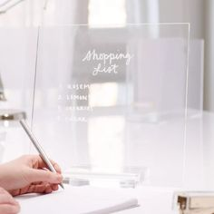 Desktop Accessories, Office Accessories, Acrylic Box, Clear Acrylic, Clear Business Cards, Office With A View, Office Workspace, Office Decor, Office Inspo