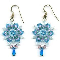 Free+Seed+Bead+Earring+Patterns   Snowflake Beadwoven ... by BeadSphere   Jewelry Pattern