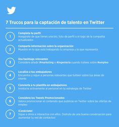 Semanario de Tips para usar Twitter como aliado en la #Atracción del talento #tuits_empleo. #Talentos