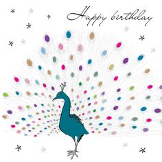 Peacock Happy Birthday card!