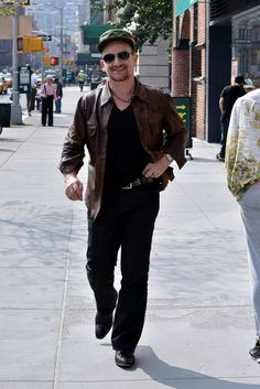 Bono on the streets of New York City on October 4, 2013. My sister's birthday!