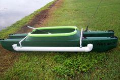 DIY outriggers for fishing kayak