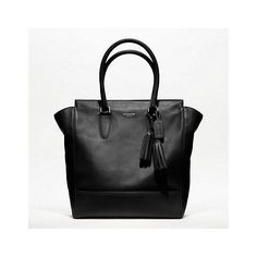 Coach Legacy Leather Tanner Tote ($498) ❤ liked on Polyvore featuring bags, handbags, tote bags, borse, coach bag, purses, travel tote, genuine leather tote, handbags & purses and leather handbag tote