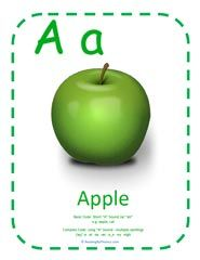 How to Teach Letter A and its Sound - Short A Phonics. Large printable card also shows the complexities of the short and long A sounds, and also includes the many different spellings for the long A sound.